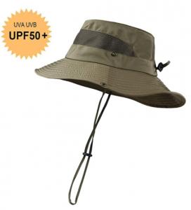 KOOLSOLY Wide Brim Breathable Waterproof Boonie Hat