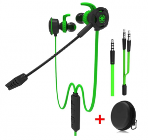 Maxin Wired Gaming Earphone with Adjustable Mic