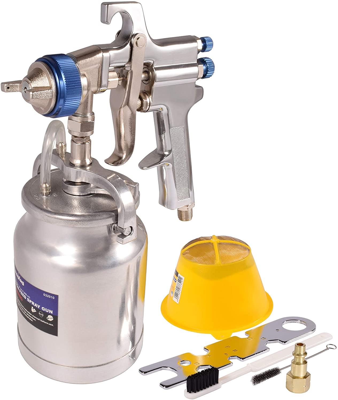 Dynas tus 33 oz Siphon Feed Spray Gun, LVLP Sprayer with Cleaning Kit