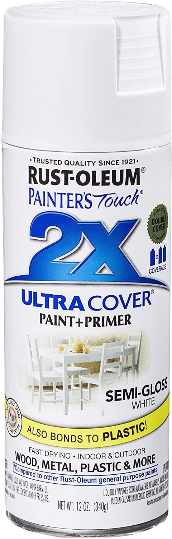 Rust-Oleum 249060 Spray Paint, Semi Gloss White Paint