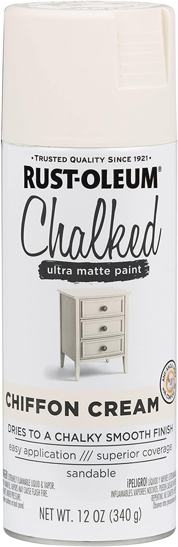 Rust-Oleum 302596 Chalked Spray Paint, Off White Spray Paint