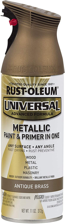 Rust-Oleum Antique Brass 260728 Paint, Universal All Surface Spray Paint