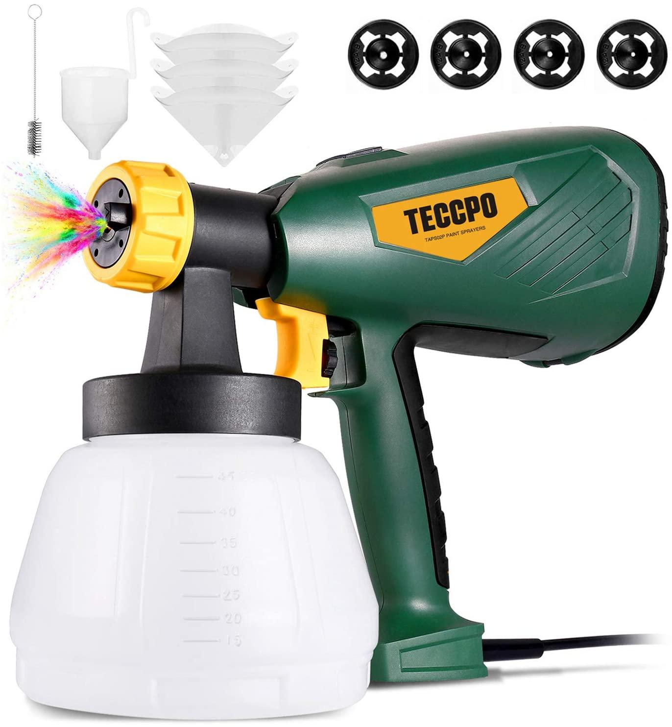 TECCPO 600 Watts Paint Sprayer, Best HVLP Electric Spray Gun